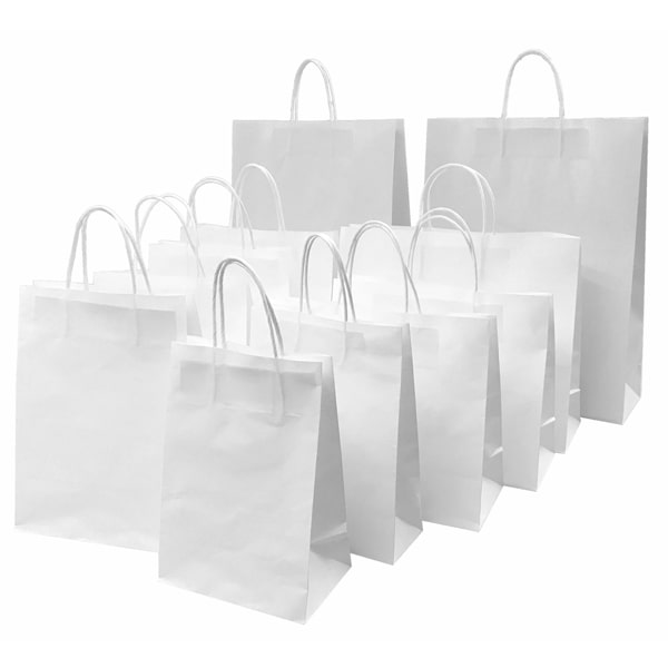 all size white bags
